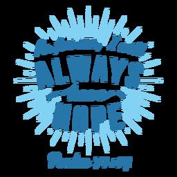 Letras de la cita de la Biblia Hope