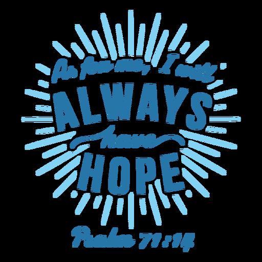 Esperanza cita de la biblia letras
