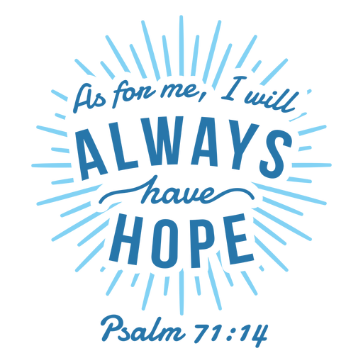 Hope bible quote lettering