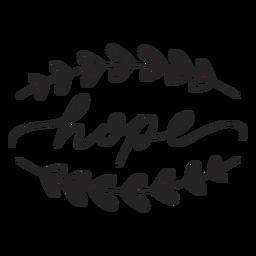 Hope cursive lettering
