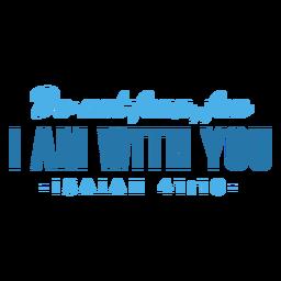 Eu estou com você letras da bíblia