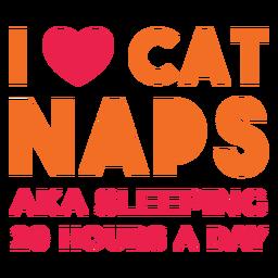 I heart cat naps lettering
