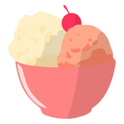Ilustración de tazón de helado