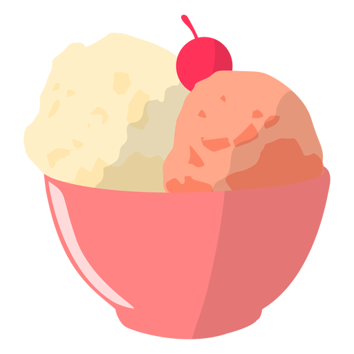 Ice cream bowl illustration