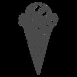 Dibujado a mano cono de helado