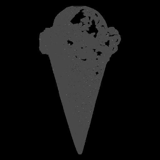 Ice cream cone hand drawn