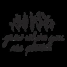 Letras de citação inspiradora