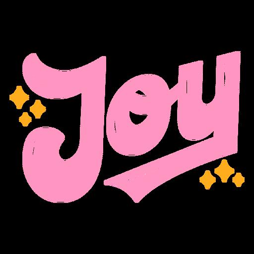 Joy sparkles lettering