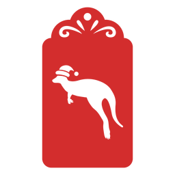 Etiqueta de corte de papel canguru
