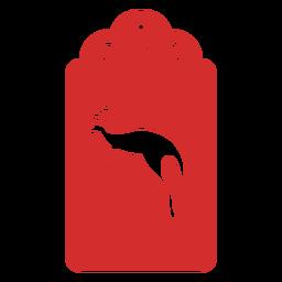 Etiqueta de corte de papel de canguro