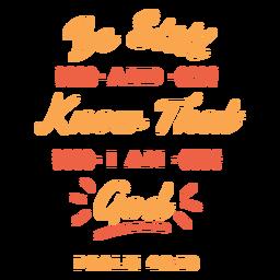 Saiba que eu sou letras de Deus