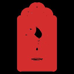 Etiqueta de corte de papel Koala