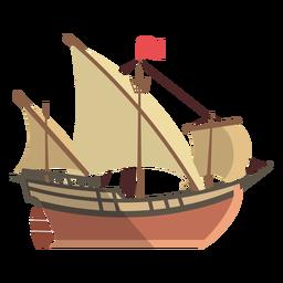 Ilustración de barco Lateen