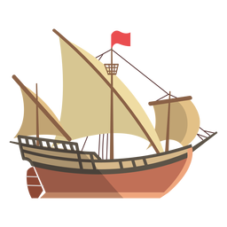 Ilustración de barco latino