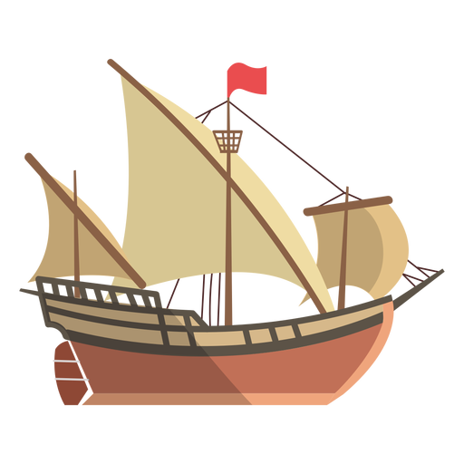 Ilustración de barco latino Transparent PNG