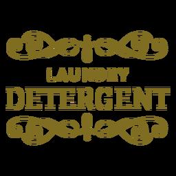 Etiqueta de remolinos de detergente para ropa