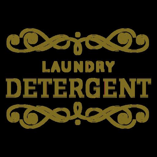 Laundry detergent swirls label