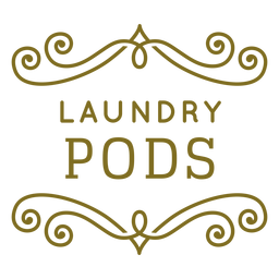 Laundry pods swirls label
