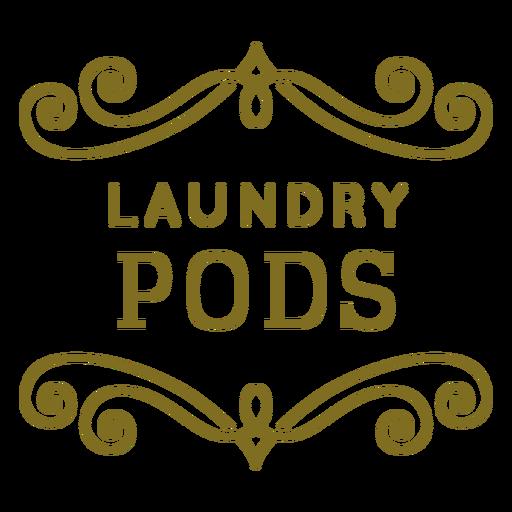Etiqueta de remolinos de vainas de lavandería