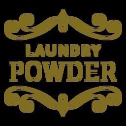 Etiqueta de remolinos de polvo de lavandería