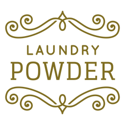 Laundry powder swirls label
