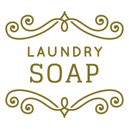 Laundry soap swirls label