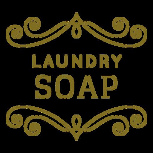 Etiqueta de remolinos de jabón de lavandería