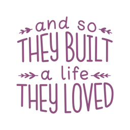 Life quote pillow decor lettering