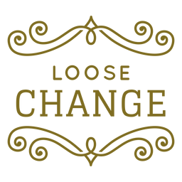 Loose change swirls label