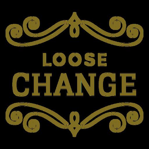 Etiqueta suelta de remolinos de cambio