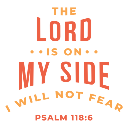Lord is on my side lettering
