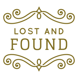 Lost and found swirls label