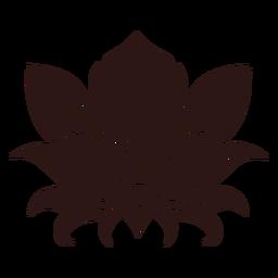 Flor de lótus preta
