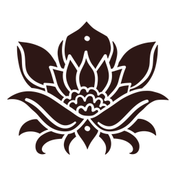 Lotus flower black