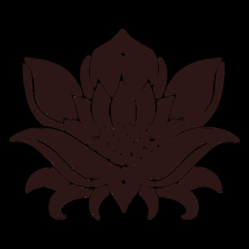 Lotus flower black Transparent PNG