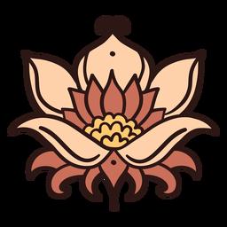 Ilustración de flor de loto loto