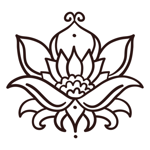 Trazo de flor de loto Transparent PNG