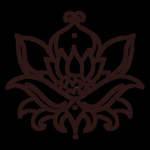 Trazo de flor de loto