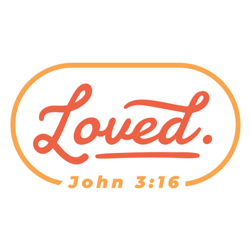 Love bible quote lettering Transparent PNG