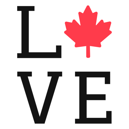 Love with maple sign lettering Transparent PNG