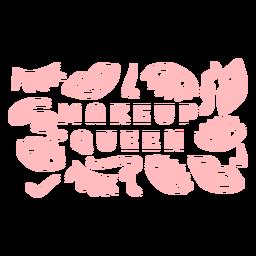 Padrão de rainha maquiagem
