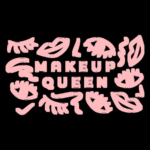 Makeup queen pattern