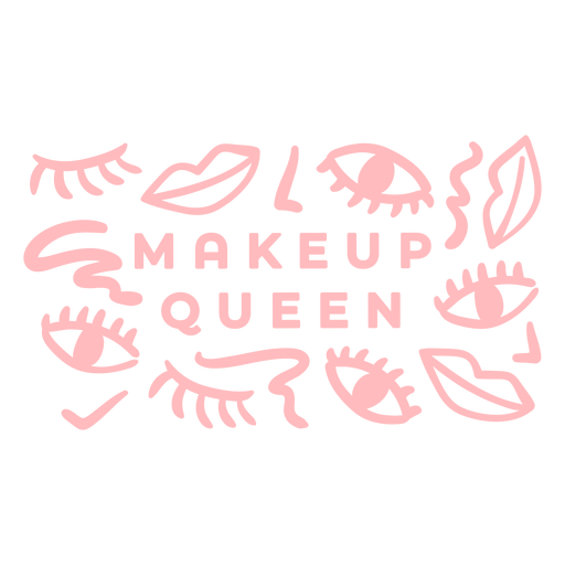 Patrón de la reina del maquillaje Transparent PNG