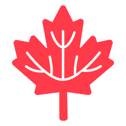 Maple leaf canada flat