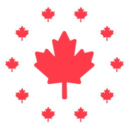 Maple leaf encircled flat