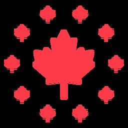 Maple leaf encircled flat