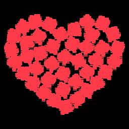 Coração de folha de bordo plana