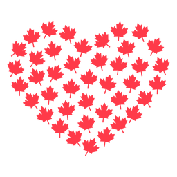 Hoja de arce corazón plano