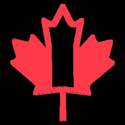 Hoja de arce en colores planos de canadá