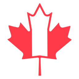 Maple leaf in canada colors flat